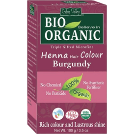 Indus Valley Organiczna farba do włosów na bazie henny - Burgund