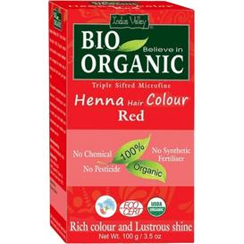 Indus Valley Organiczna farba do włosów na bazie henny - Rudy