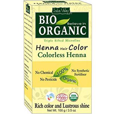 Organiczna farba do włosów na bazie henny - Bezbarwna Indus Valley