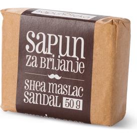 Sapunoteka Mydło do golenia z olejkiem sandałowym, 50 g