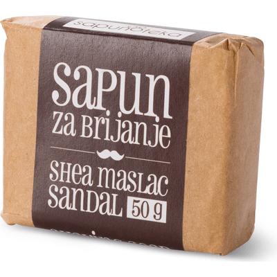 Mydło do golenia z olejkiem sandałowym Sapunoteka
