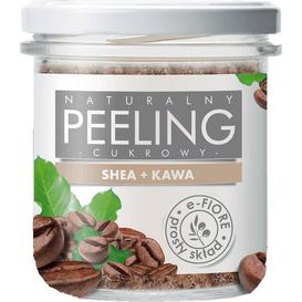 E-FIORE Naturalny kawowy peeling cukrowy z masłem shea, 300g