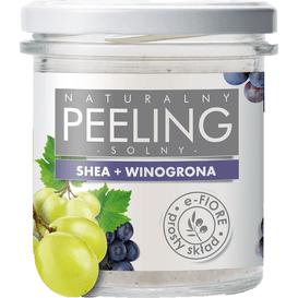 E-FIORE Naturalny winogronowy peeling solny z masłem shea, 350 g