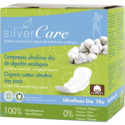 Ultracienkie podpaski na dzień ze skrzydełkami - Soft - Silver Care Masmi
