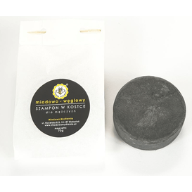 Miodowa Mydlarnia Szampon do włosów w kostce miodowo-węglowy dla mężczyzn - refill, 70 g