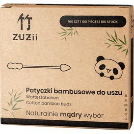 Zuzii Patyczki bambusowe do uszu w kształcie bałwanka/stożka