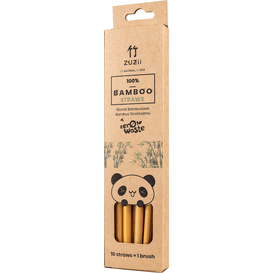 Zuzii Bambusowe wielorazowe słomki do picia