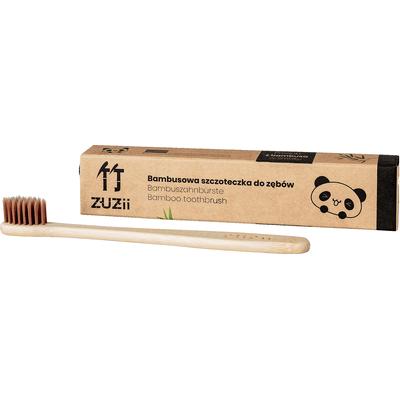 Szczoteczka do zębów dla dzieci - brązowa - włosie miękkie Zuzii