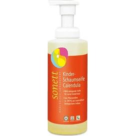 Sonett Nagietkowe mydło w piance dla dzieci z dozownikiem spieniającym, 200 ml