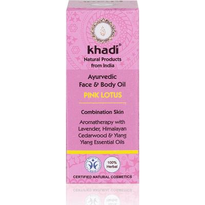 Olejek do twarzy i ciała z różowym lotosem Khadi