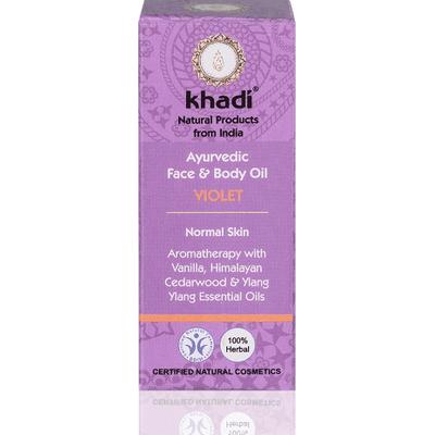 Olejek do twarzy i ciała z fiołkiem Khadi