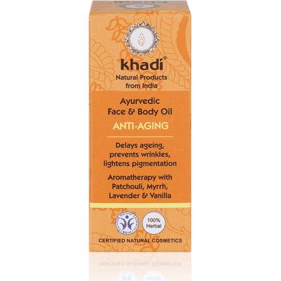 Przeciwzmarszczkowy olejek do twarzy z olejem migdałowym Khadi