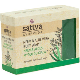 Sattva Ayurveda Mydło glicerynowe - Neem i Aloes, 125 g