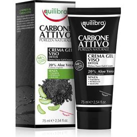 Equilibra Oczyszczający krem-żel do twarzy z aktywnym węglem, 75 ml