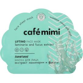 Cafe Mimi Liftingująca maska do twarzy w płachcie z ekstraktami laminarii i fukusa