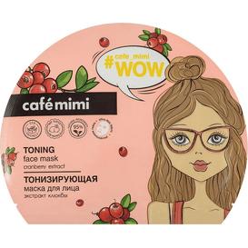 Cafe Mimi Tonizująca maska do twarzy w płachcie z ekstraktem z żurawiny 1 szt.