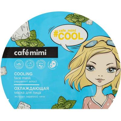 Ochładzająca maska do twarzy w płachcie z ekstraktem z mięty pieprzowej Cafe Mimi