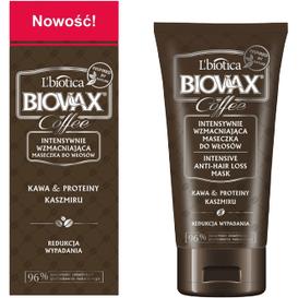 L'biotica Wzmacniająca maseczka do włosów - Kawa & proteiny kaszmiru, 125 ml