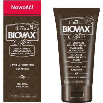 Wzmacniająca maseczka do włosów - Kawa & proteiny kaszmiru L'biotica