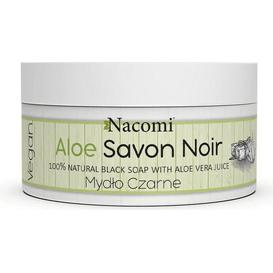 Nacomi Aloe Savon Noir - Aloesowe czarne mydło z sokiem z aloesu, 125 g