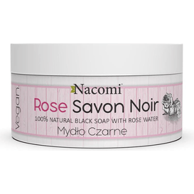 Nacomi Rose Savon Noir - Różane czarne mydło z wodą różaną, 125 g
