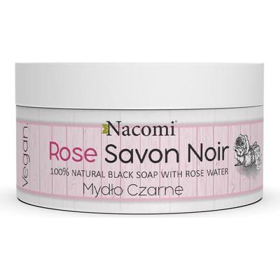 Rose Savon Noir - Różane czarne mydło z wodą różaną Nacomi