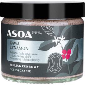 Asoa Peeling kawowo-cukrowy z olejkiem cynamonowym