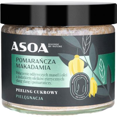 Peeling cukrowy z olejem macadamia Asoa