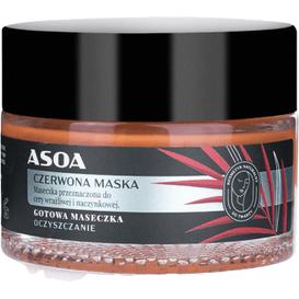 Asoa Maseczka do cery wrażliwej i naczyniowej - Czerwona glinka i olej marula