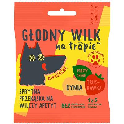 Żelki dla dzieci - Dynia i truskawka - kwaśne Głodny Wilk