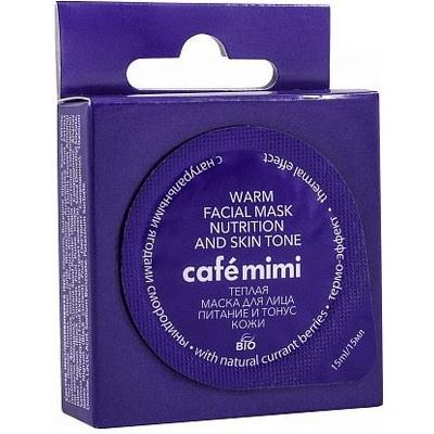 Maseczka do pielęgnacji twarzy - Rozgrzewająco-odżywiająca Cafe Mimi