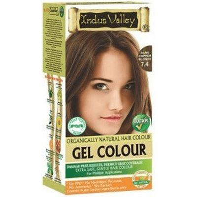 Żelowa farba do włosów - Ciemny miedziany blond Indus Valley