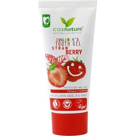 Cosnature Żelowa pasta do zębów dla dzieci o smaku truskawkowym