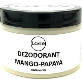 La-Le Kosmetyki Dezodorant ekologiczny w kremie - Mango-papaya z nutą wanili, 120 ml
