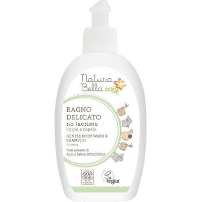 Delikatny płyn do kąpieli i szampon - No tears Natura Bella Baby