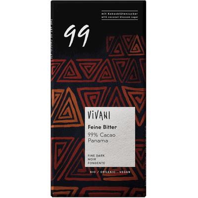 Czekolada gorzka 99% kakao Vivani