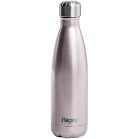 Produkty less waste Stylowa butelka do picia wody ze stali nierdzewnej - Silver Rose