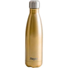 Produkty less waste Stylowa butelka do picia wody ze stali nierdzewnej - Gold Champagne