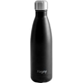 Produkty less waste Stylowa butelka do picia wody ze stali nierdzewnej - Black