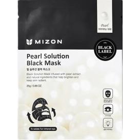 Mizon Pearl Solution Black Mask - Maska z ekstraktem z pereł na czarnym płacie bawełny