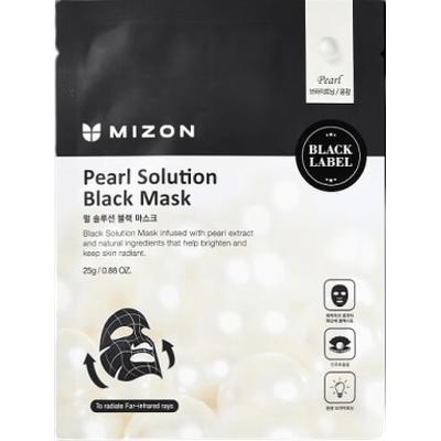 Pearl Solution Black Mask - Maska z ekstraktem z pereł na czarnym płacie bawełny Mizon