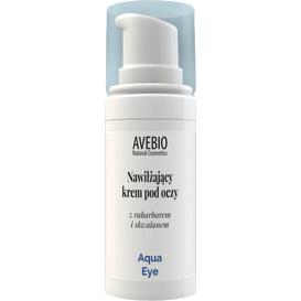 Avebio Nawilżający krem pod oczy z rabarbarem i skwalanem - Aqua Eye, 15 ml
