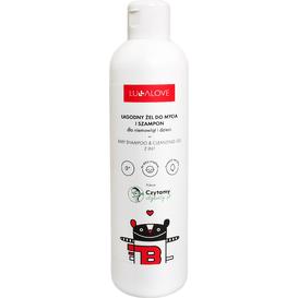 Lullalove Łagodny żel do mycia i szampon dla niemowląt i dzieci, 250 ml