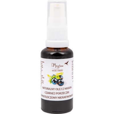 Olej z nasion czarnej porzeczki (data ważności: 2021-06-30) Majru