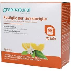 Greenatural Tabletki do zmywarki - Pomarańcza & cytryna - duże opakowanie, 50 szt.