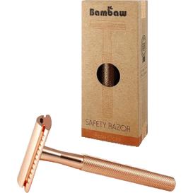 Bambaw Wielorazowa maszynka do golenia - Złoty róż