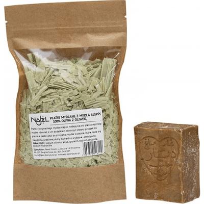 Naturalne płatki mydlane z mydła Aleppo Najel