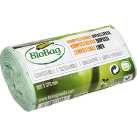 BioBag Biodegradowalne worki na odpady organiczne i zmieszane 6L, 30 szt.