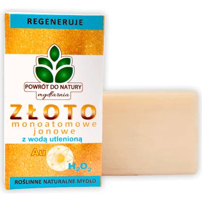 Naturalne mydło ze złotem monojonowym i wodą utlenioną Produkty less waste