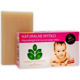 Produkty less waste Roślinne naturalne mydło hipoalergiczne dla niemowląt i dzieci